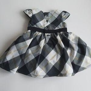 dcb401e3349b Dresses | Carters Newborn Baby Girl Plaid Dress Black Gold | Poshmark